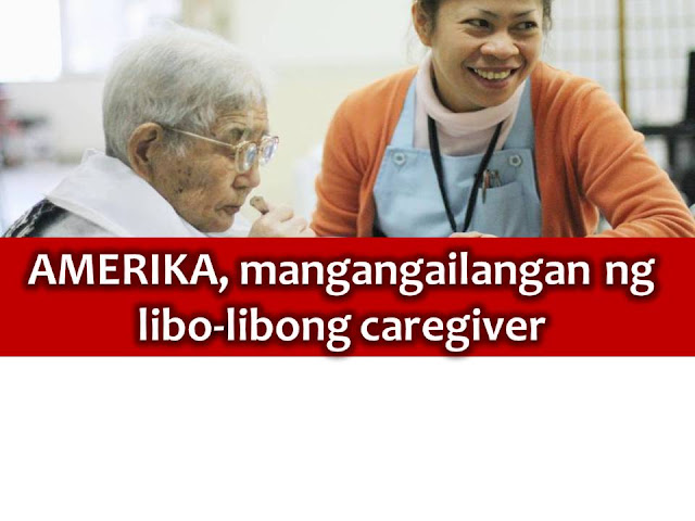 The United States of America will be needing thousands of caregiver for the next decade.  According to Aquilina Soriano Verzosa, Executive Director of Pilipino Workers Center, the aging population of America is one reason why they need caregivers.  She said the baby boomers are in retirement age and every day there are more than 10,000 people turns 65 years old in the country.  She added in the next 13 years, there will be a million caregiver shortage in America.