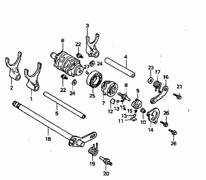 NSR Salatiga: NSR 150 RR Parts Catalogue: Gearshift Drum