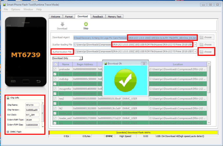 Huawei Dra Lx2 Flash File MT6739 8 1 0 Dead & Hang Logo Fix