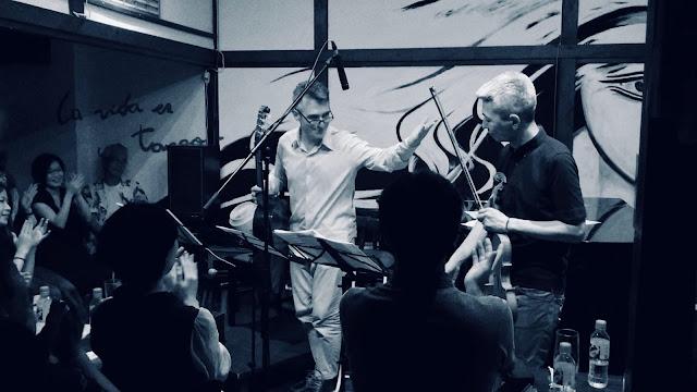 レオナルド・ブラーボ(ギター)喜多直毅(ヴァイオリン)