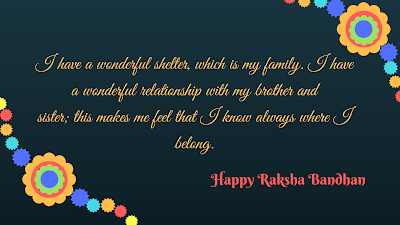 Rakshabandhan wishes to sister