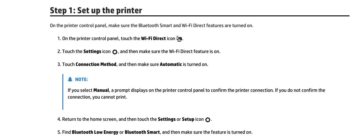 HP Officejet 250 Bluetooth Setup
