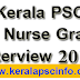 PSC Staff Nurse grade II Interview 2015
