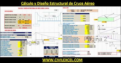 Cálculo y Diseño Estructural de Cruce Aéreo