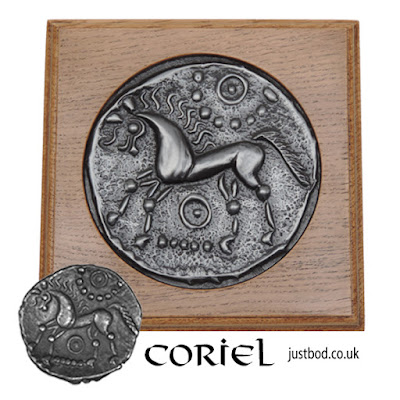 Coriel - Ancient Celtic Coin wall plaque from Justbod