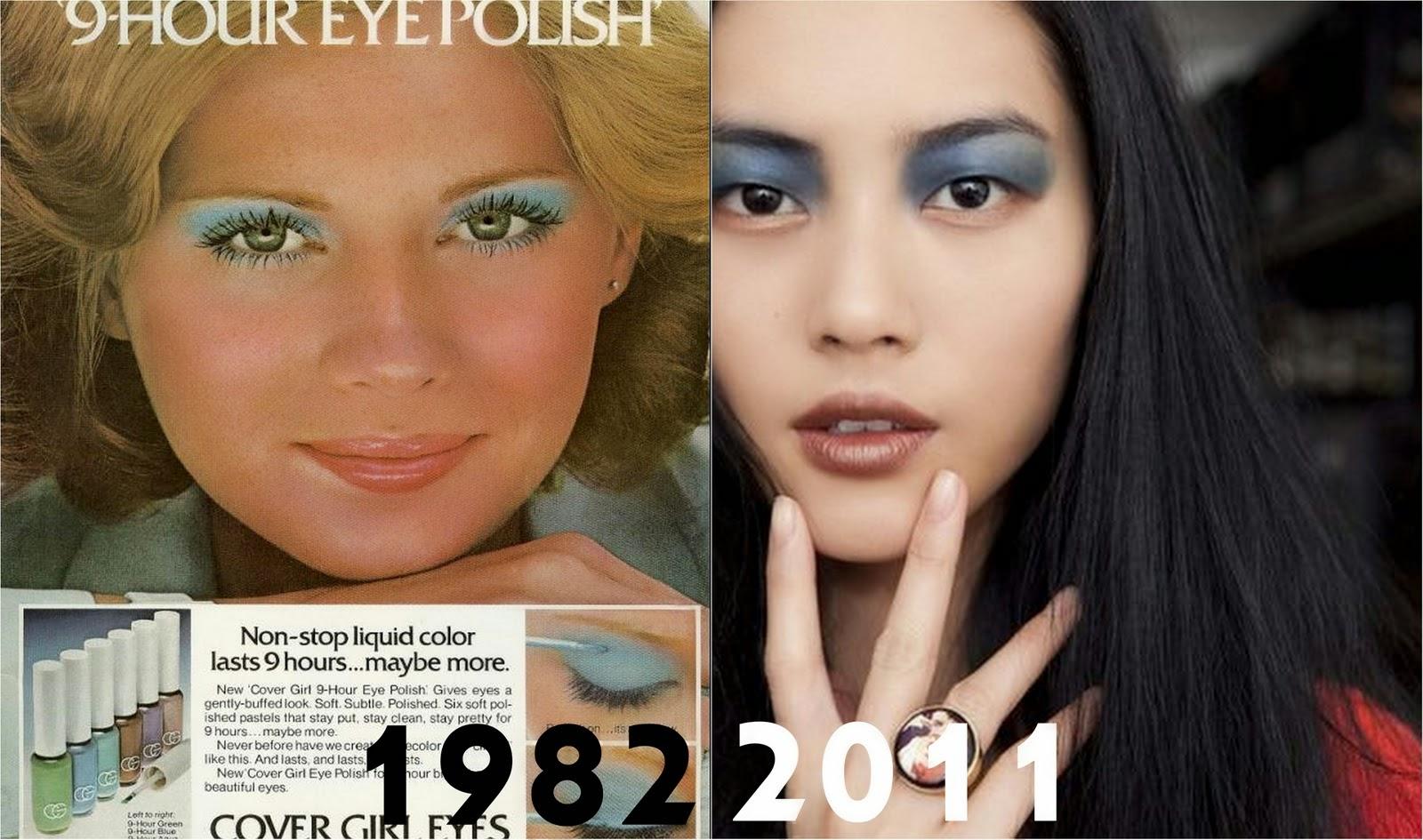 80s makeup compared to 2011 makeup