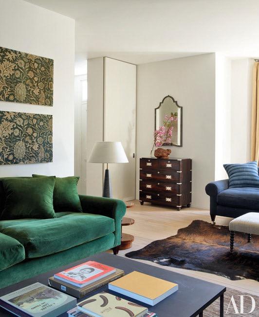 Interior de estilo inglés con notas de wabi sabi chicanddeco