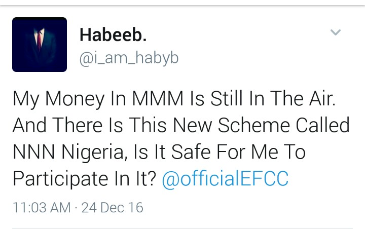 EFCC gives another epic reply to a Twitter user