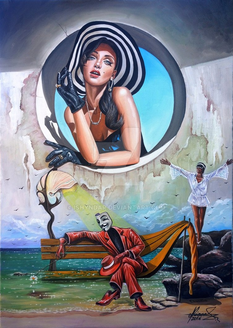 10-The-First-Date-Artist-Raceanu-Mihai-aka-Ishyndar-Surrealism-Permeating-from-every-Painting-www-designstack-co