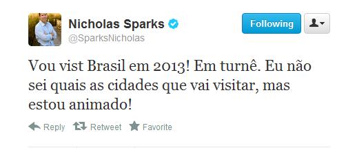 News: Nicholas Sparks no Brasil em 2013! 10