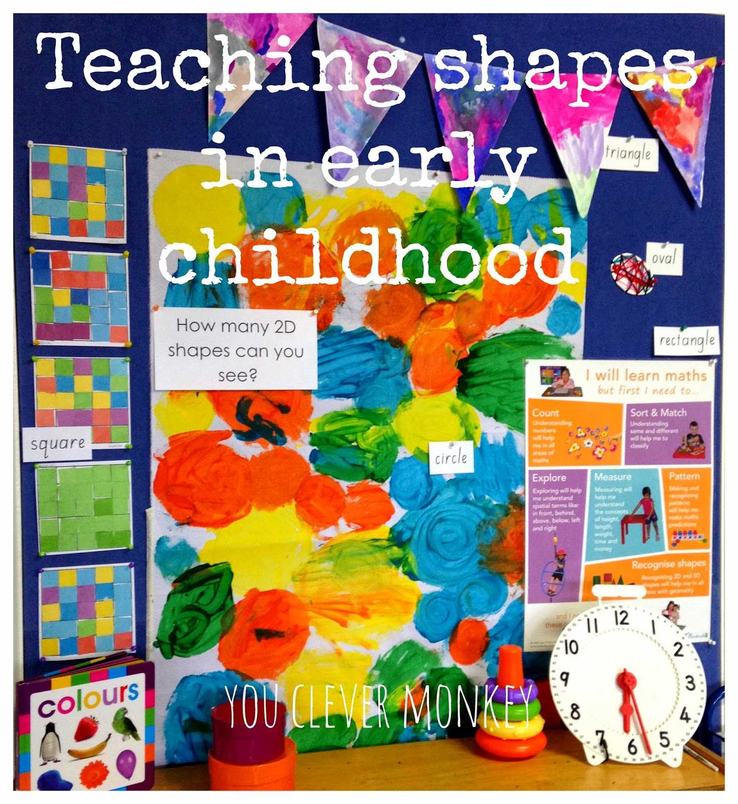 Teaching shapes in early childhood.  Are we teaching them the right way?  For teaching suggestions, visit http://youclevermonkey.com/