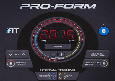 Proform 400i - LED display