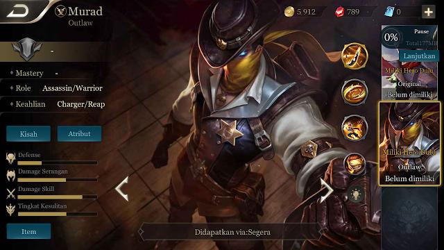 Hero Murad AOV Rilis Dan Dapatkan Skin Murad Gratis (Terbatas)