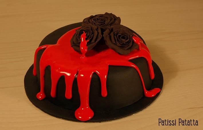 cake design, gâteau 3D, pâte à sucre, gumpaste, fondant, vampire cake, halloween cake