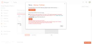 tidak bisa upload template blogspot