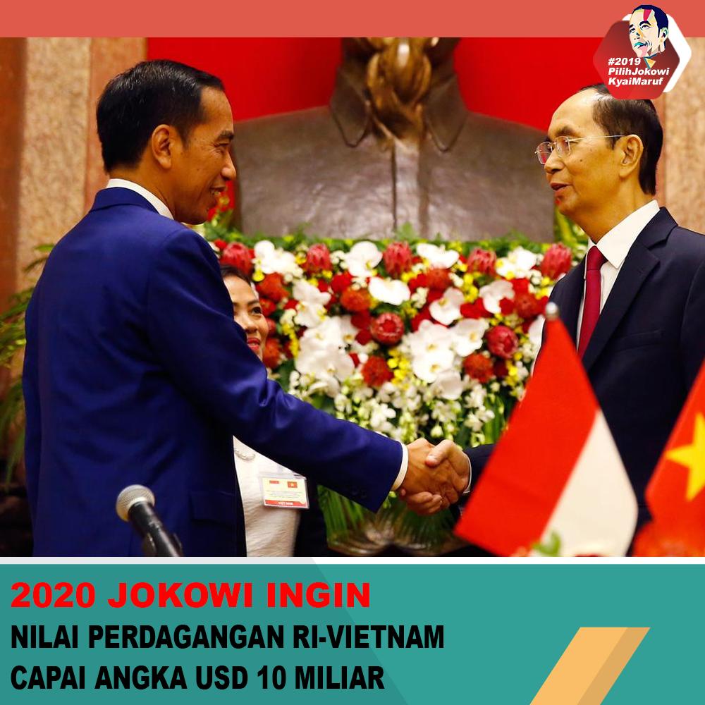2020 Jokowi Ingin Nilai Perdagangan RI - Vietnam Capai Angka USD 10 Miliar