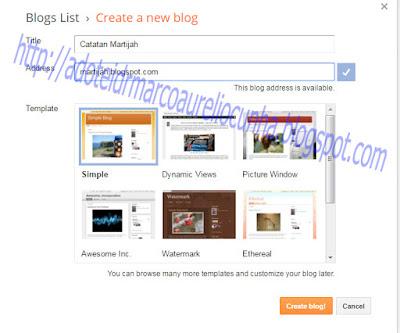 Cara Membuat Blog Di Blogspot Gratis