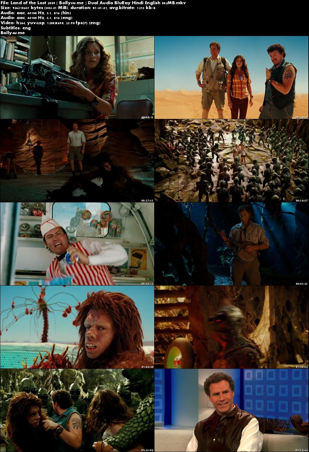 Land of the Lost 2009 BluRay 300MB Hindi Dual Audio 480p Download