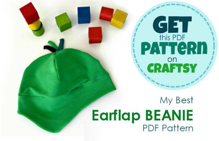 Make a perfect Earflap Beanie Hat! Add a pop of color to your kids' wardrobe AND let them stay WARM outdoors. PDF Pattern in 8 sizes.