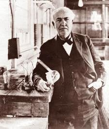 thomas alva edison at bulb lab