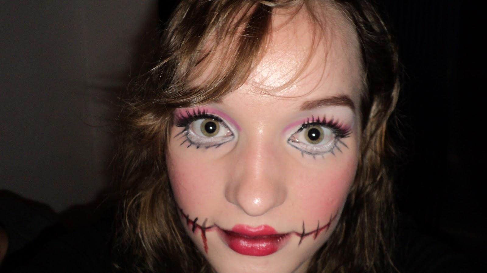 Hoe Ga Je Verkleed Met Halloween.The Make Up Hotspot Halloween Make Up Freaky Doll