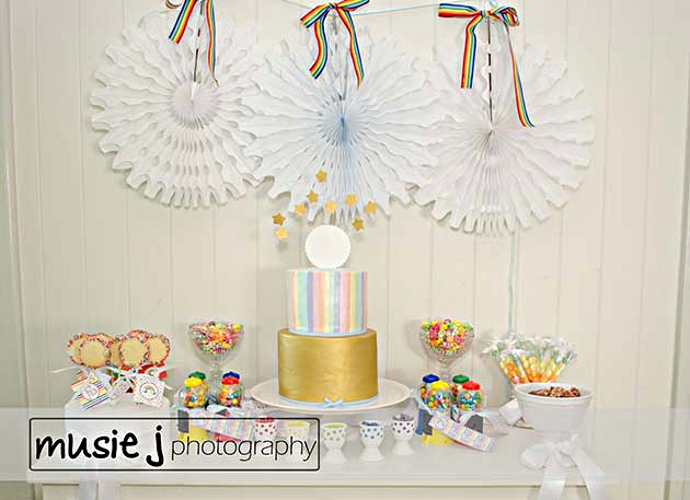 An Elegant Adult Rainbow Party Styling - via BirdsParty.com
