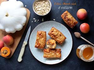 Minis cakes aux abricots, miel et... patisson !