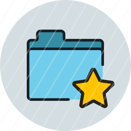 favorite, files, folder, storage, icon, star