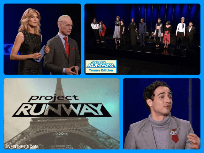 Project Runway Team's Edition Season Eleven judges and contestants.