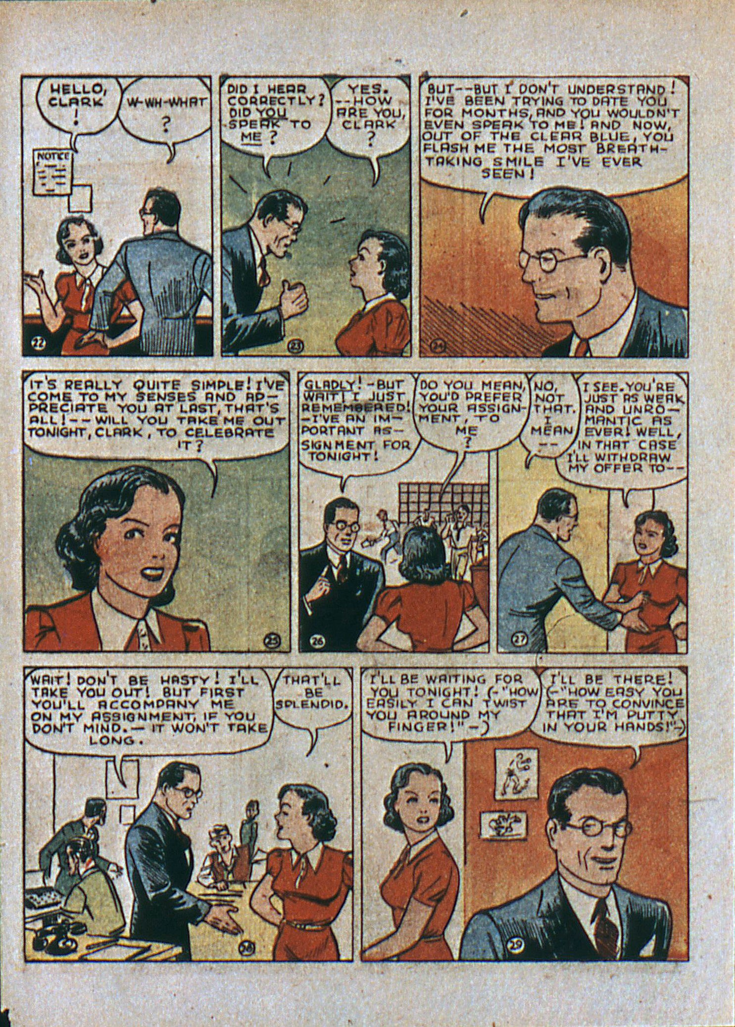 Read online Action Comics (1938) comic -  Issue #6 - 7