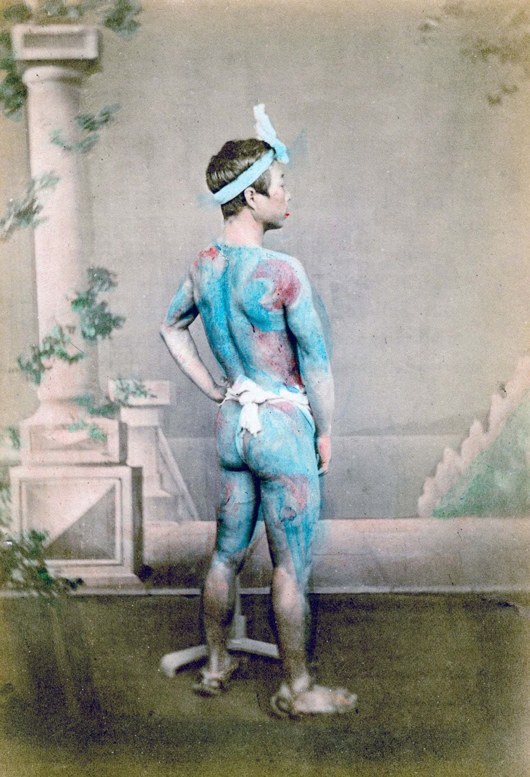 1882. An early example of Irezumi tattoos.