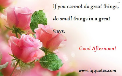good afternoon if you cannot great things,