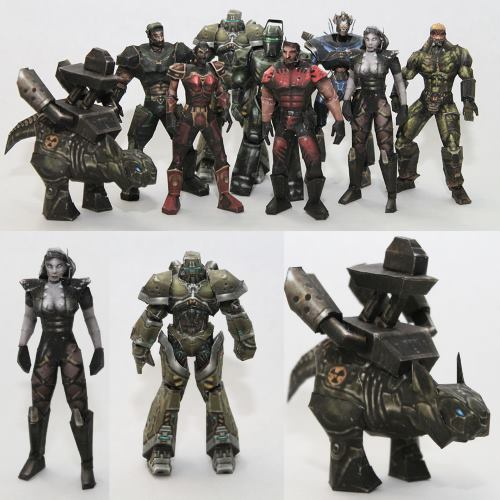 Papercraft Unreal Tournament Characters