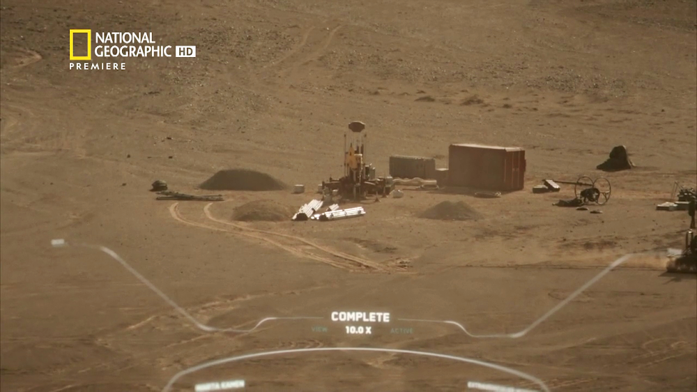 National Geographic's MARS - episode 3, season 2 (drilling site)