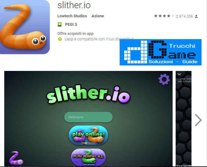 Trucchi Slither.io Mod Apk Android v1.4.8