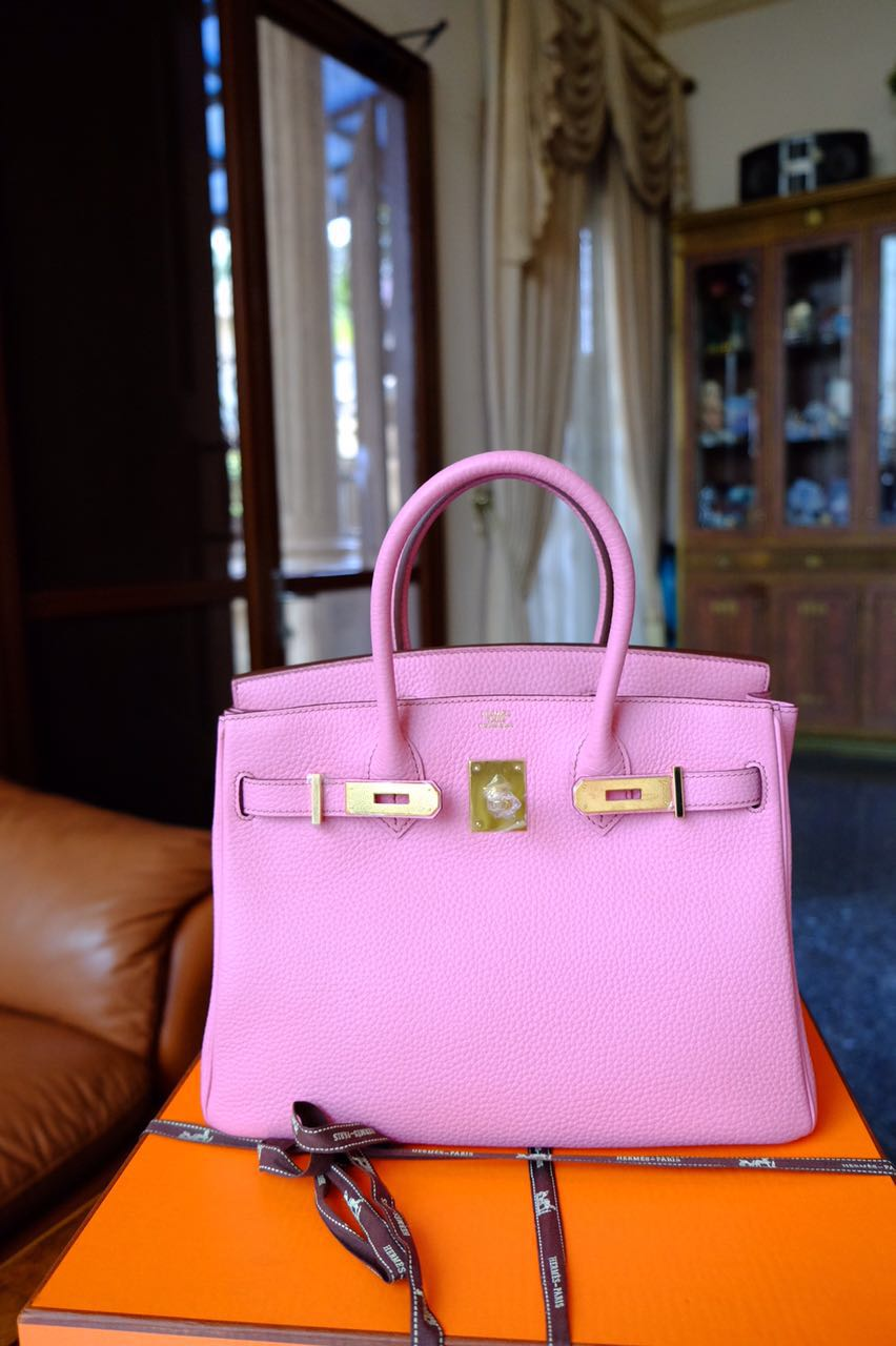 hermes bag for sale - Kinda Kollection: Hermes Birkin B30Cm Pink Bubble Gum Clemence ...