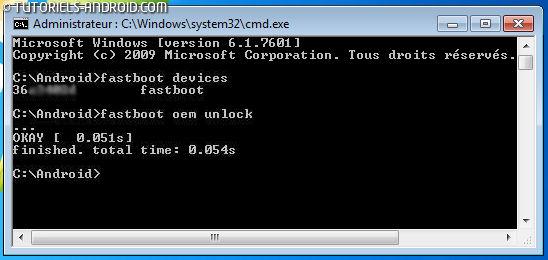 Commande Fastboot Oem Unlock - OnePlus 5