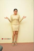 Actress Pooja Roshan Stills in Golden Short Dress at Box Movie Audio Launch  0137.JPG