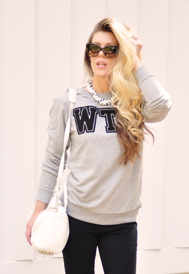 WTF Sweatshirt, long hair