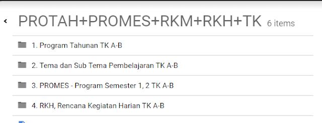 Administrasi PROTA,PROSEM,RKH TK A-B Semester 1 dan 2 2016/2017 rar