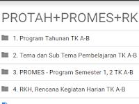 Download Administrasi PROTA,PROSEM,RKH TK A-B Semester 1 dan 2 2016/2017 rar