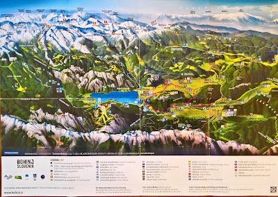 Tourist overview map of the Bohinj Area and Triglav National Park. C