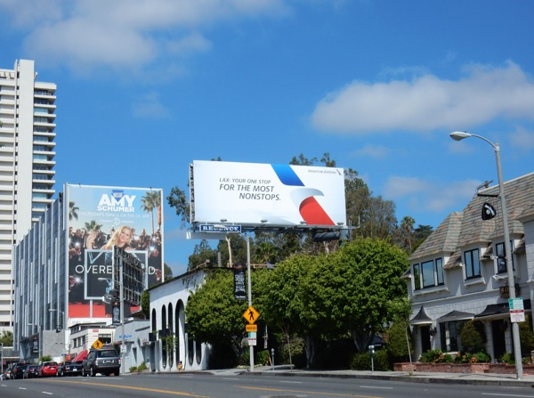 American Airlines LAX most nonstops billboard
