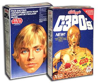 Kellogg's C-3PO's Cereal Box Luke Skywalker Mask