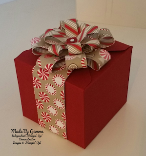 Stampin'Up! Gift box and bow