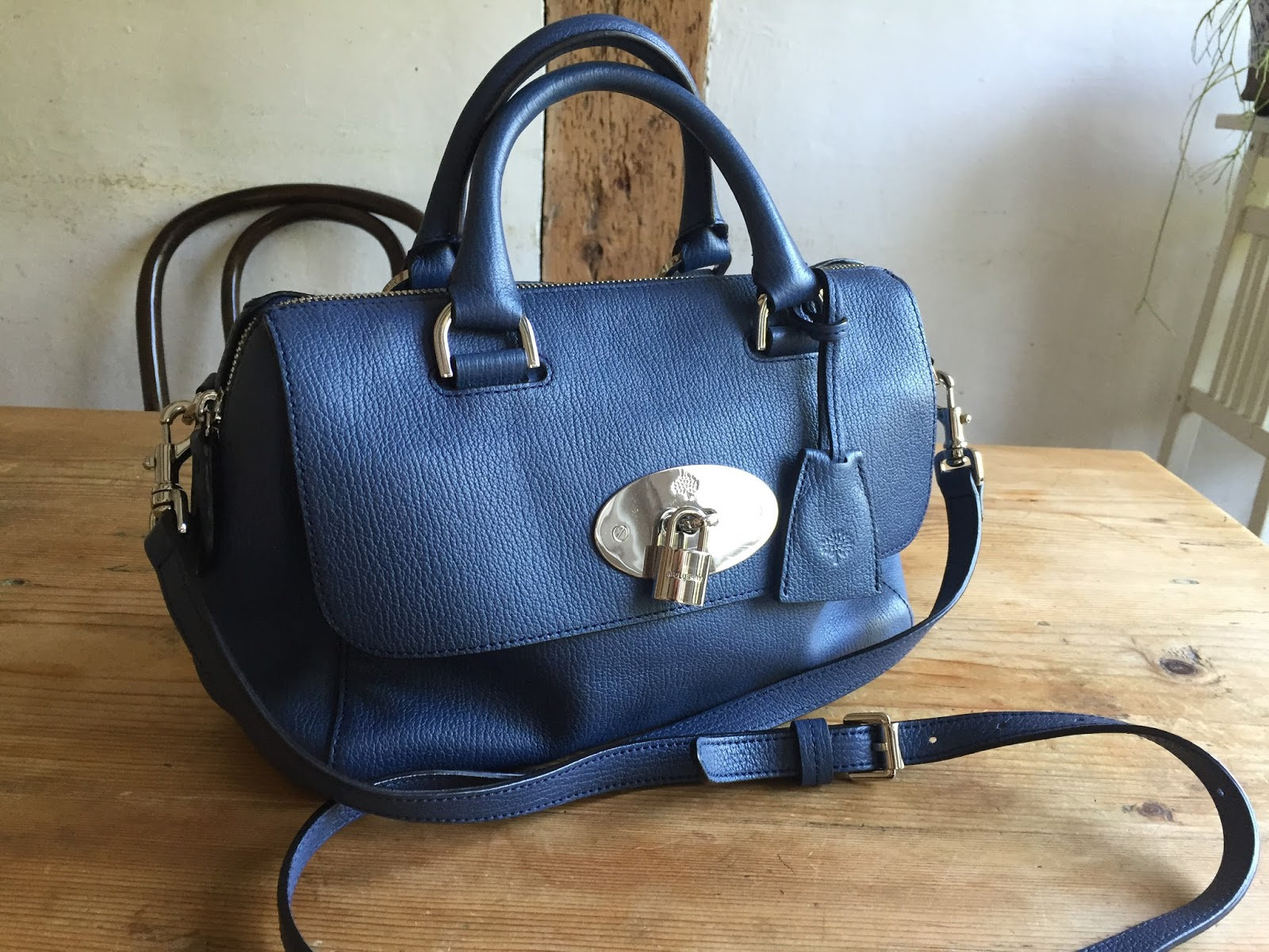 79b5c8753c26 beautiful mulberry small del rey in slate blue leather. brand new with dust  bag and still protective plastic on lock (see picture 3). can be worn cross  body ...