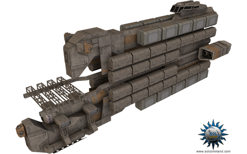 freighter spaceship solcommand cargo ship space transport free download 3d model