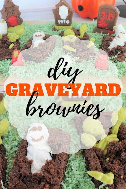 Make your own Halloween centerpiece with this fun graveyard brownies recipe and activity.