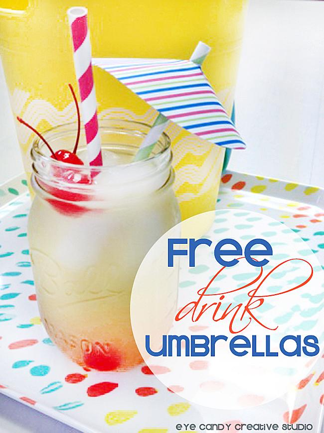 drink umbrellas, cocktail umbrella, summer cocktails, free download