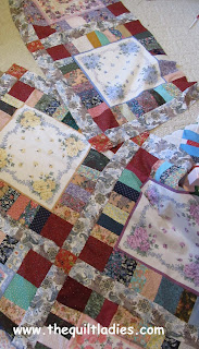 How to make a Hankie Quilt made with Scraps